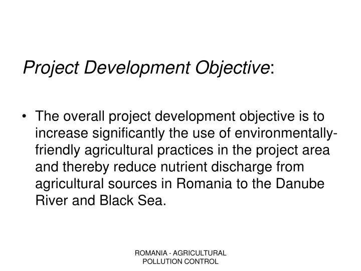Project Development Objective