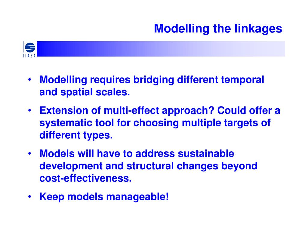Modelling the linkages