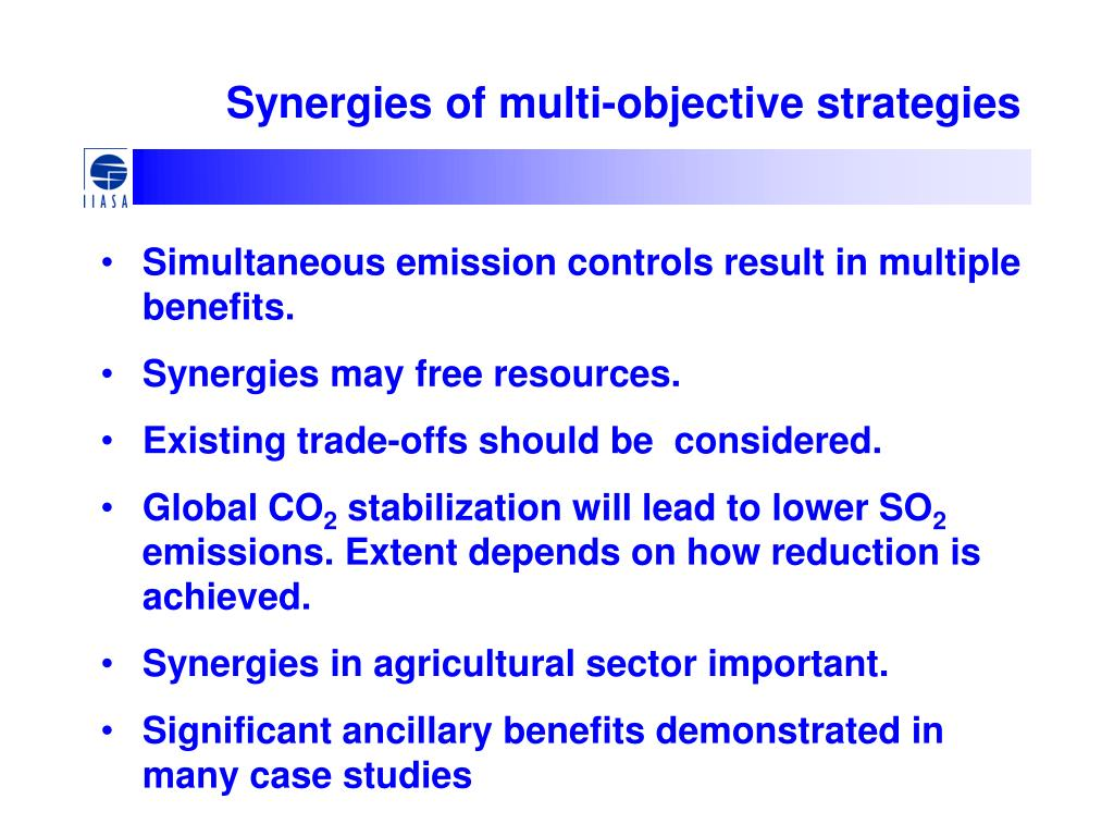 Synergies of multi-objective strategies
