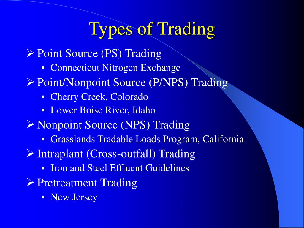 Types of Trading