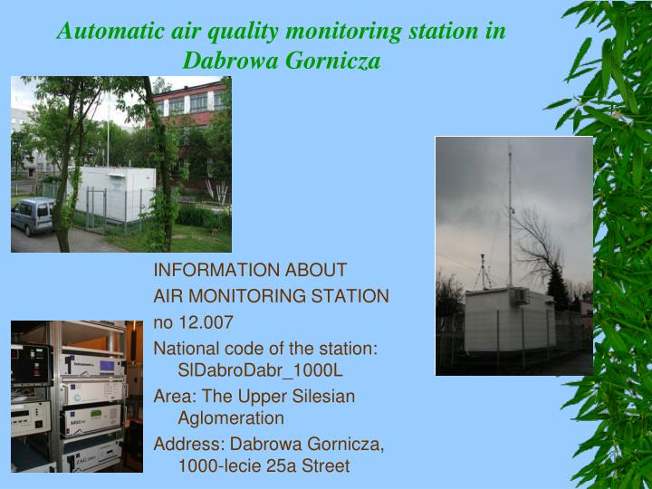 Automatic air quality monitoring station in d a browa g o rnicza