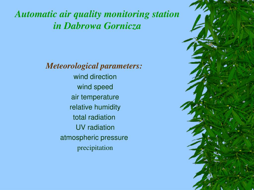 Automatic air quality monitoring station in D