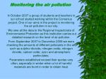 monitoring the air pollution