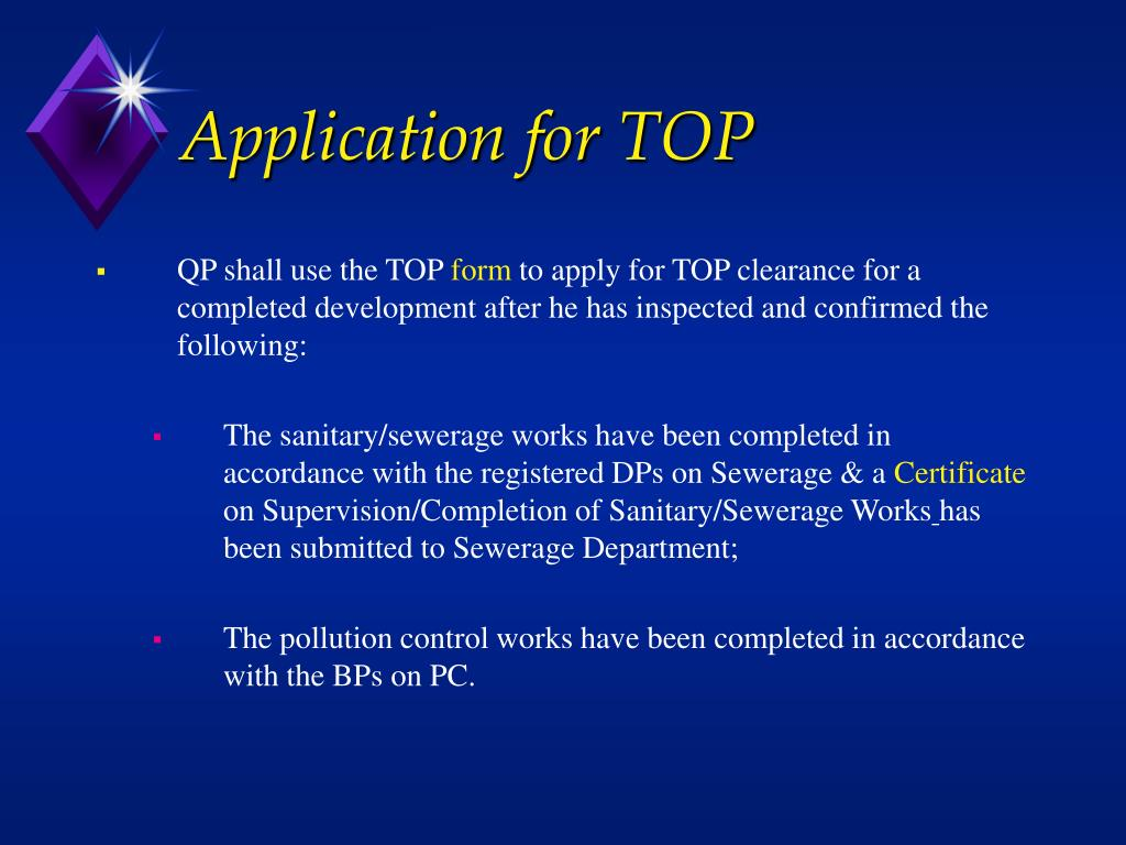 Application for TOP