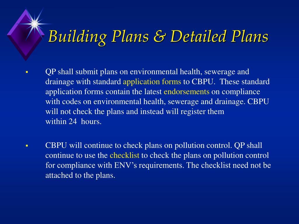 Building Plans & Detailed Plans
