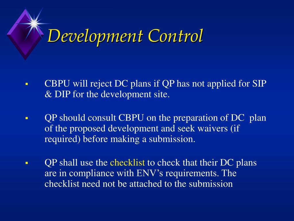 Development Control