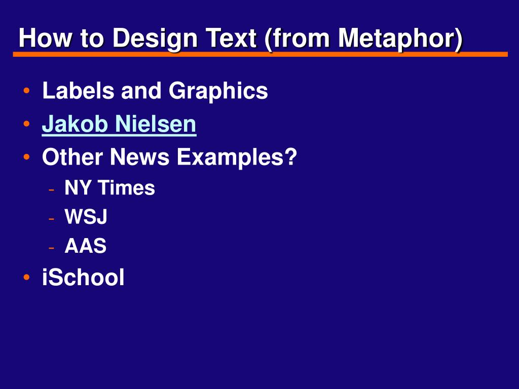How to Design Text (from Metaphor)