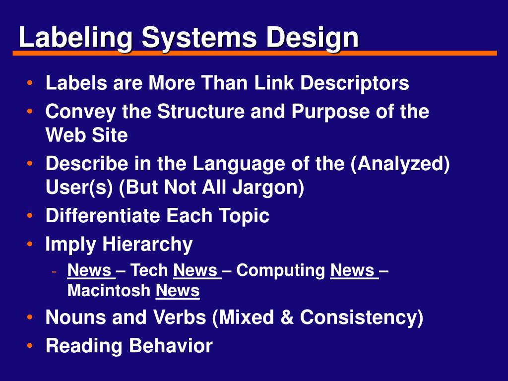 Labeling Systems Design