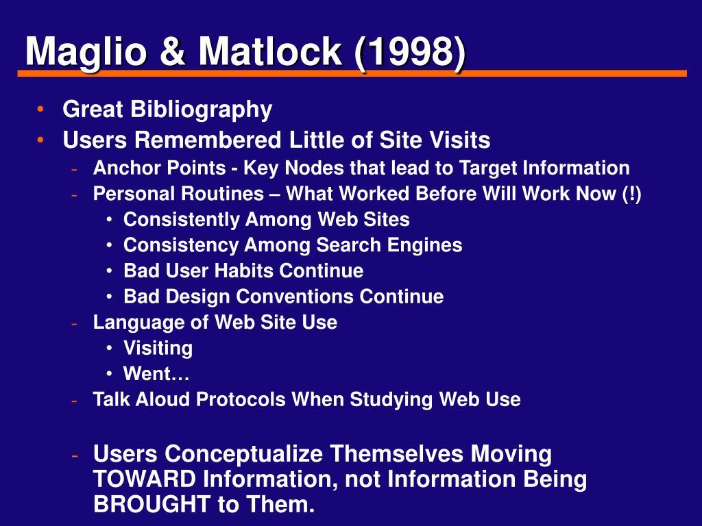 Maglio & Matlock (1998)