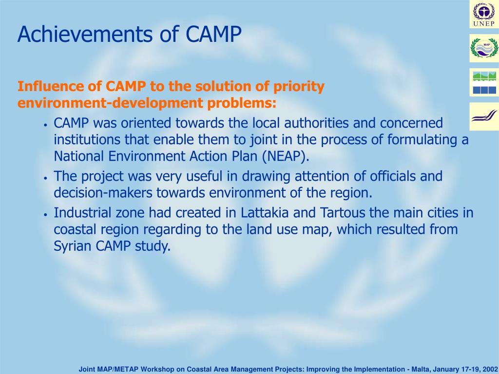 Achievements of CAMP