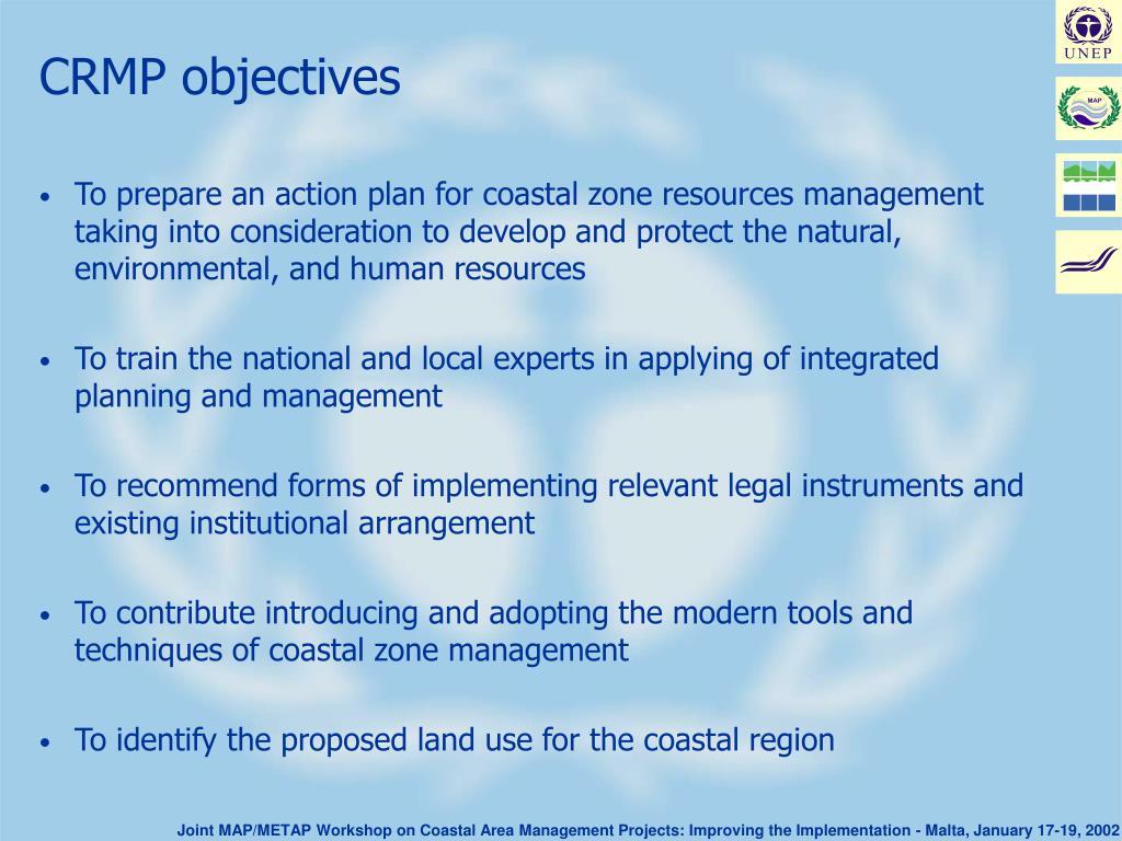 CRMP objectives