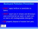 backyard pollution prevention