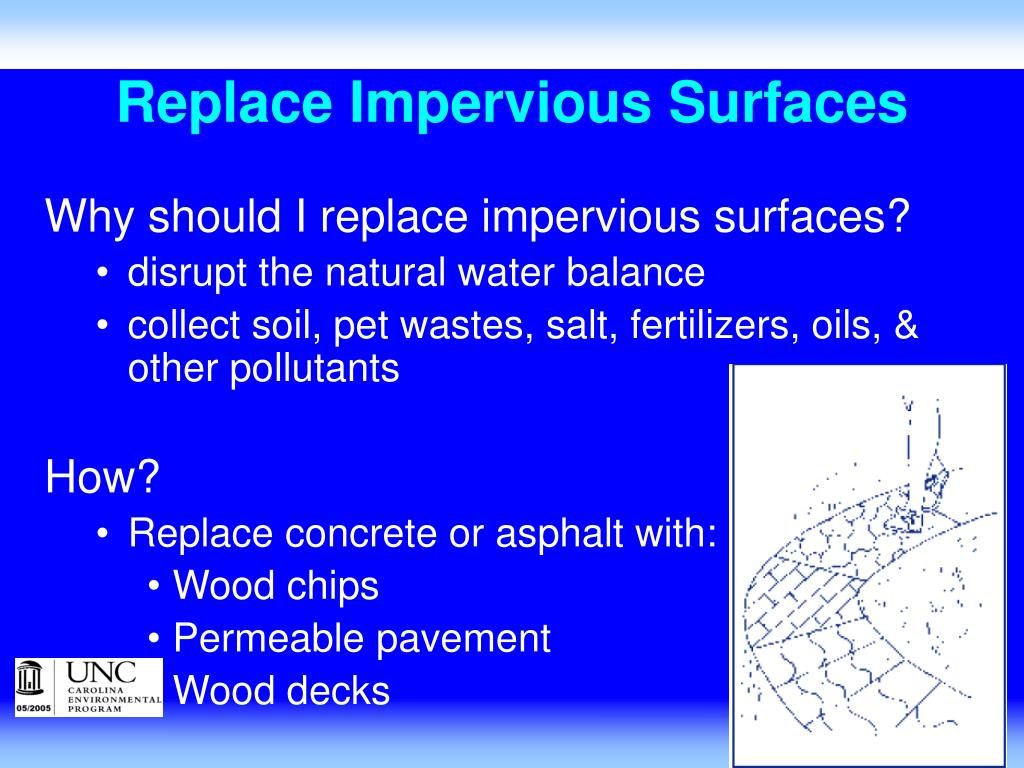 Replace Impervious Surfaces