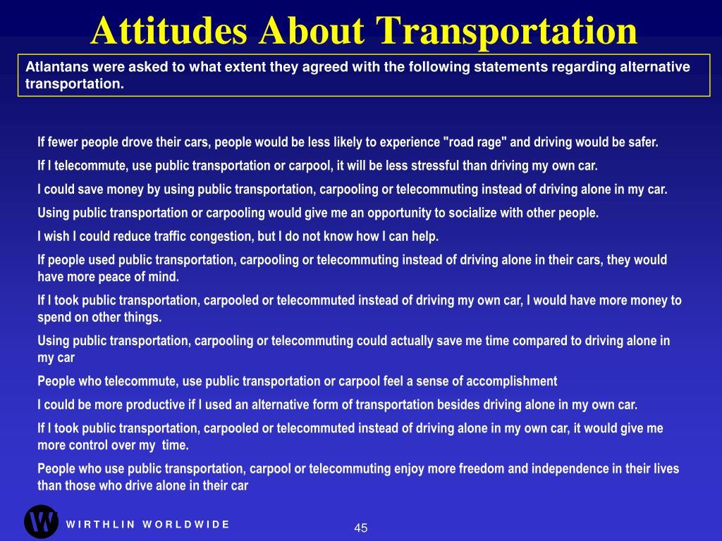 Attitudes About Transportation
