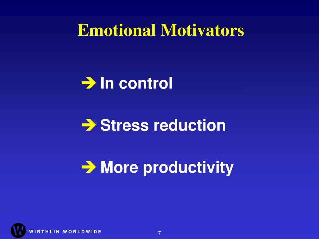 Emotional Motivators