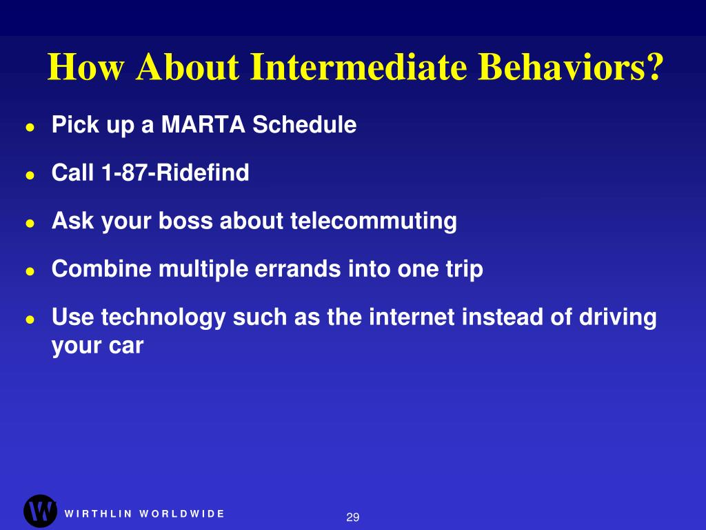 How About Intermediate Behaviors?