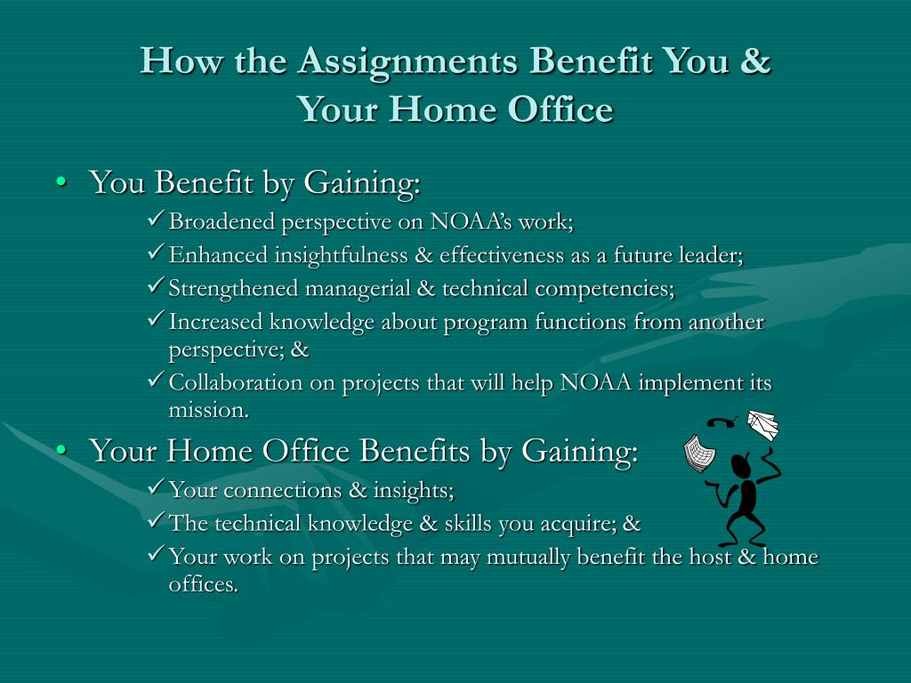 How the Assignments Benefit You &