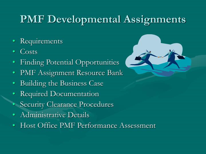 Pmf developmental assignments