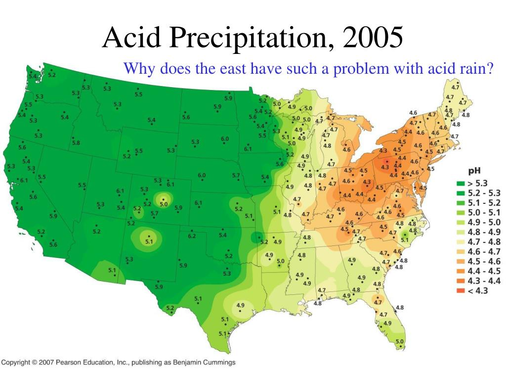 Acid Precipitation, 2005