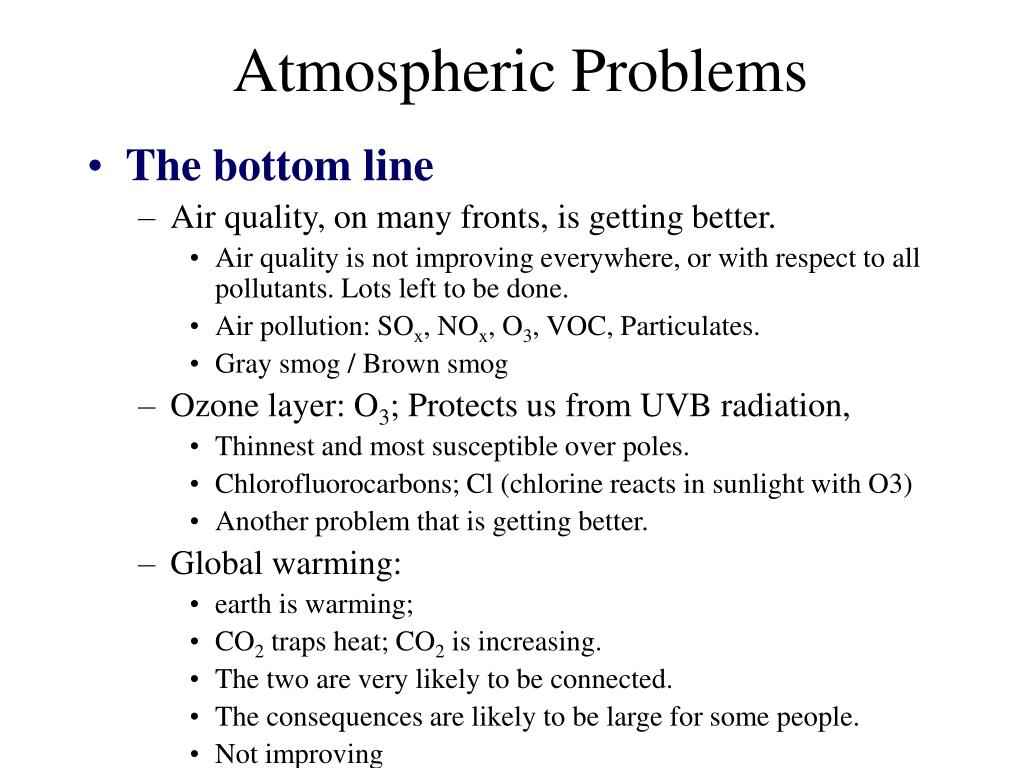 Atmospheric Problems