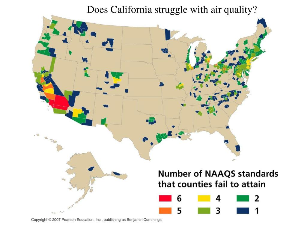 Does California struggle with air quality?