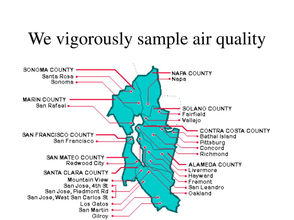 We vigorously sample air quality