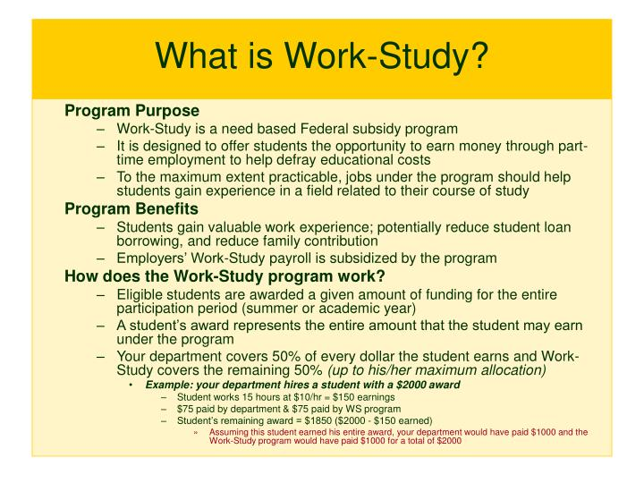 What is work study