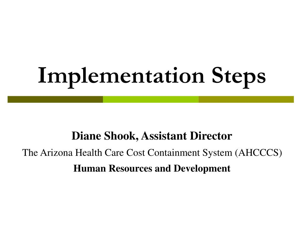 Implementation Steps