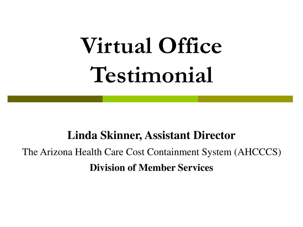 Virtual Office Testimonial