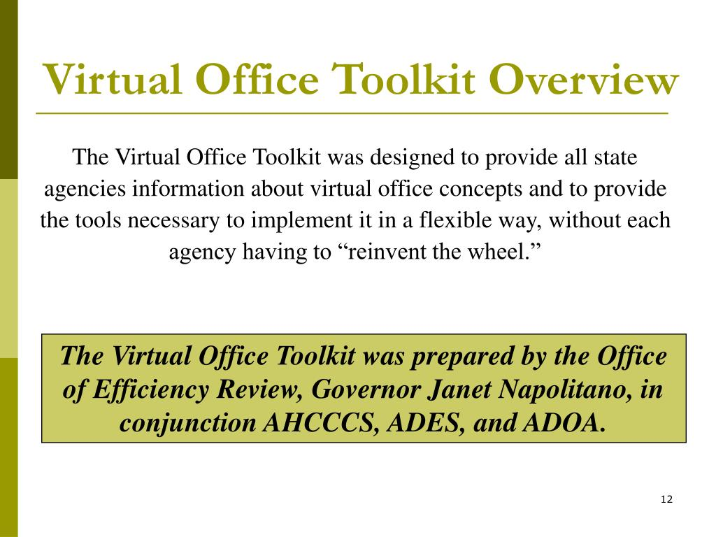 Virtual Office Toolkit Overview