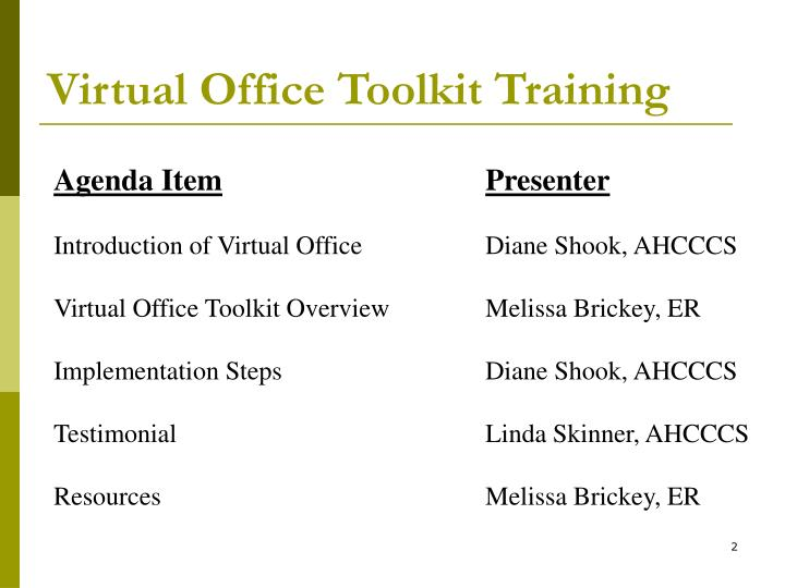 Virtual office toolkit training2