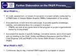 further elaboration on the pa r process