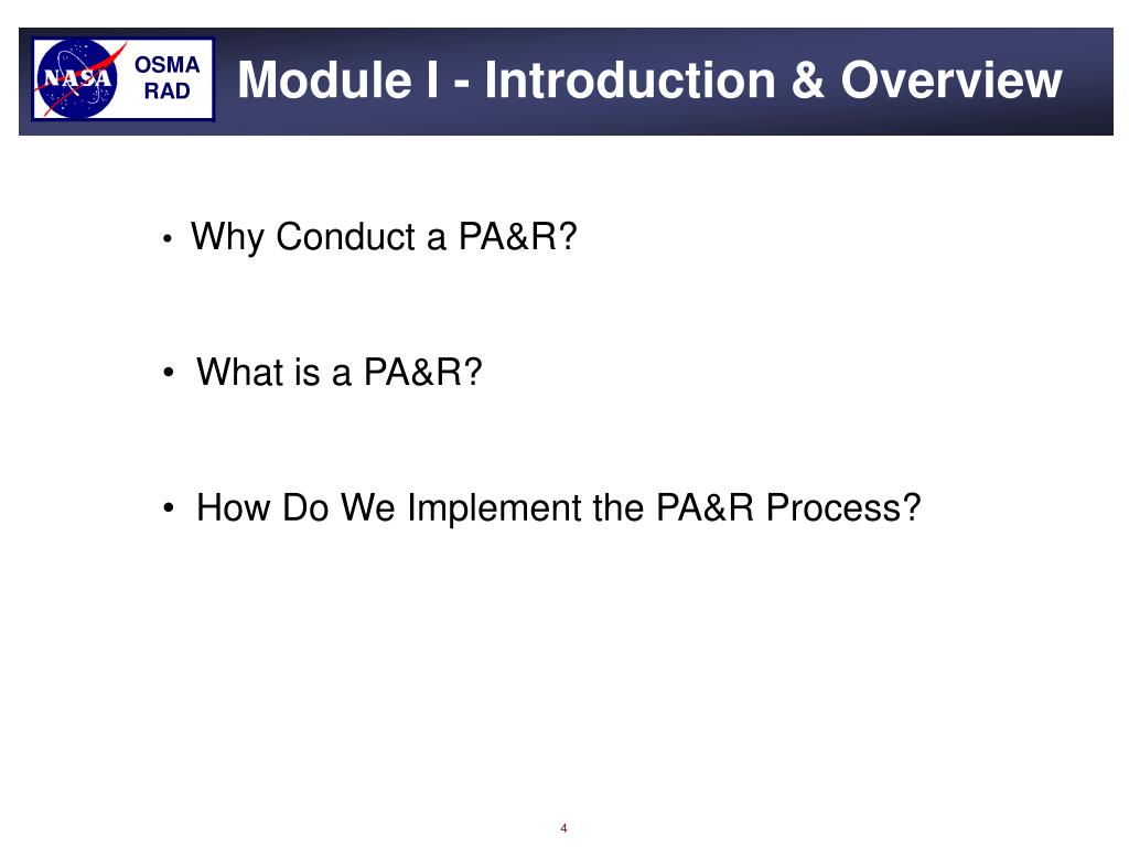 Module I - Introduction & Overview