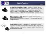 pa r findings