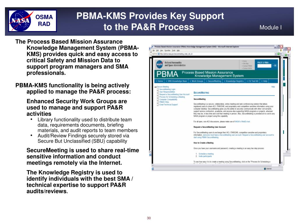 PBMA-KMS Provides Key Support