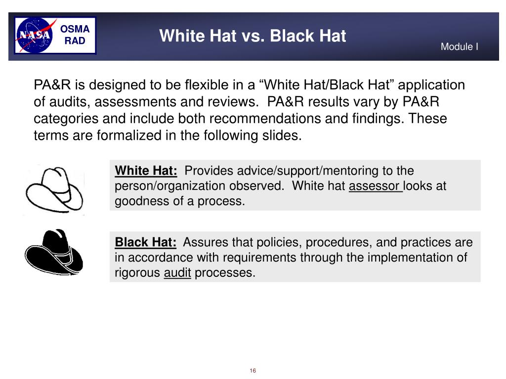 White Hat vs. Black Hat