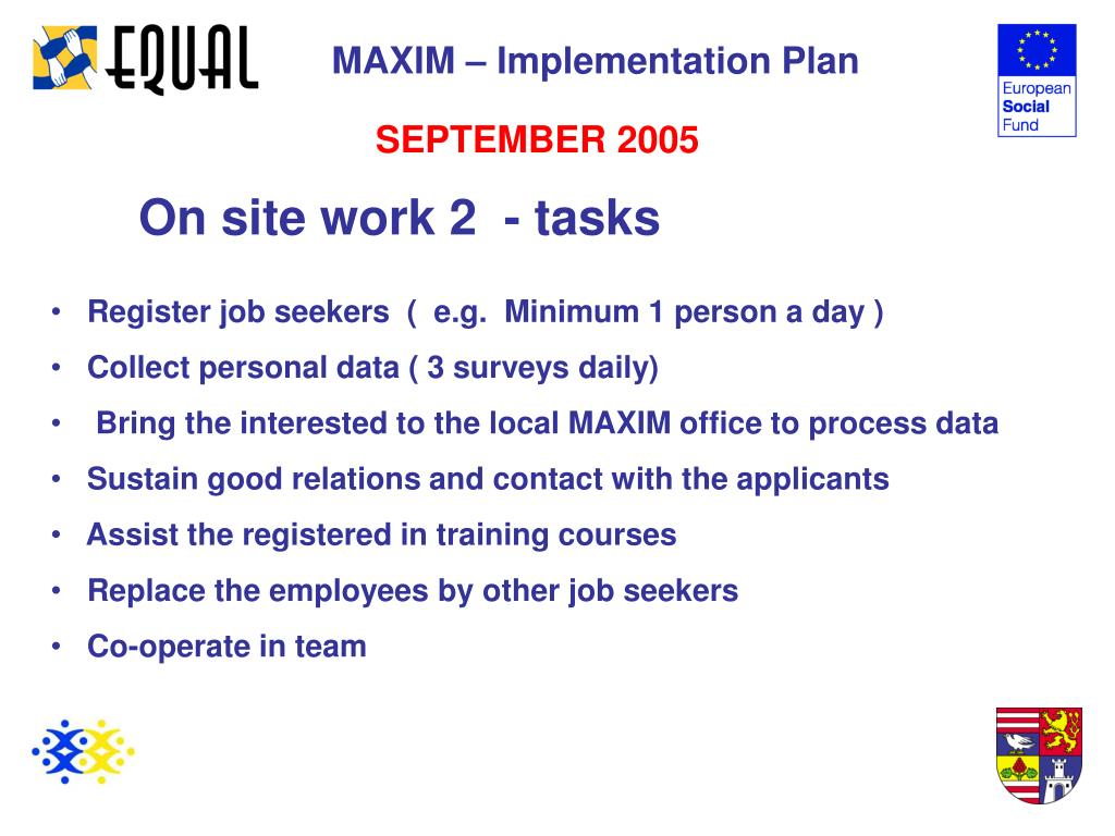 MAXIM – Implementation Plan