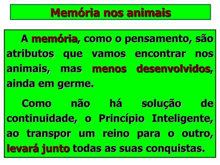 Memória nos animais