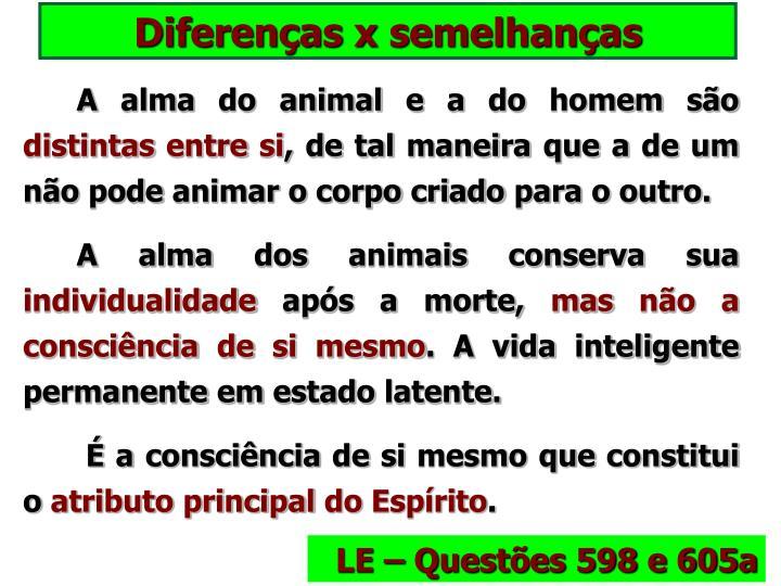Diferenças x semelhanças