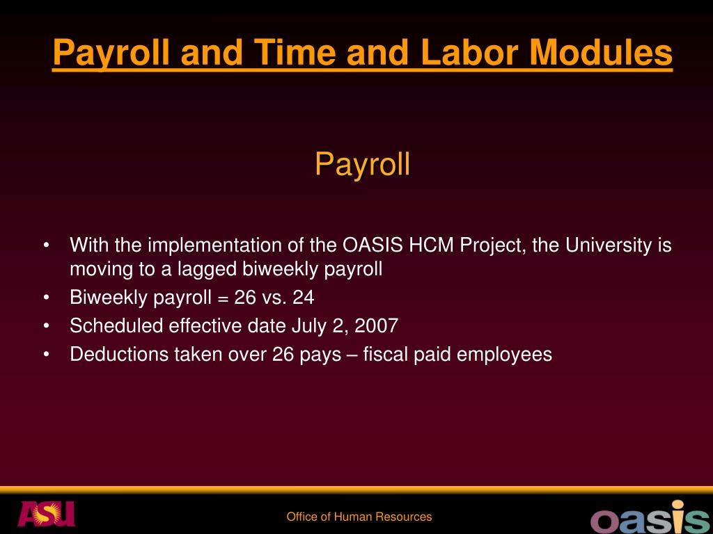Payroll and Time and Labor Modules