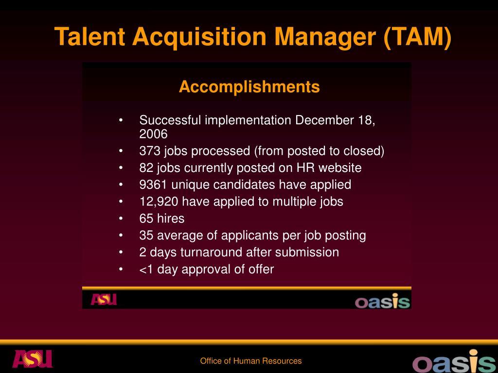 Talent Acquisition Manager (TAM)