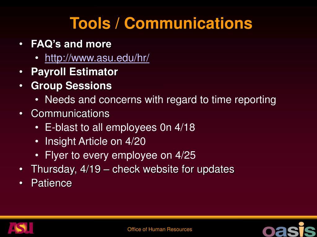 Tools / Communications