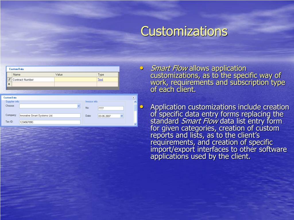 Customizations