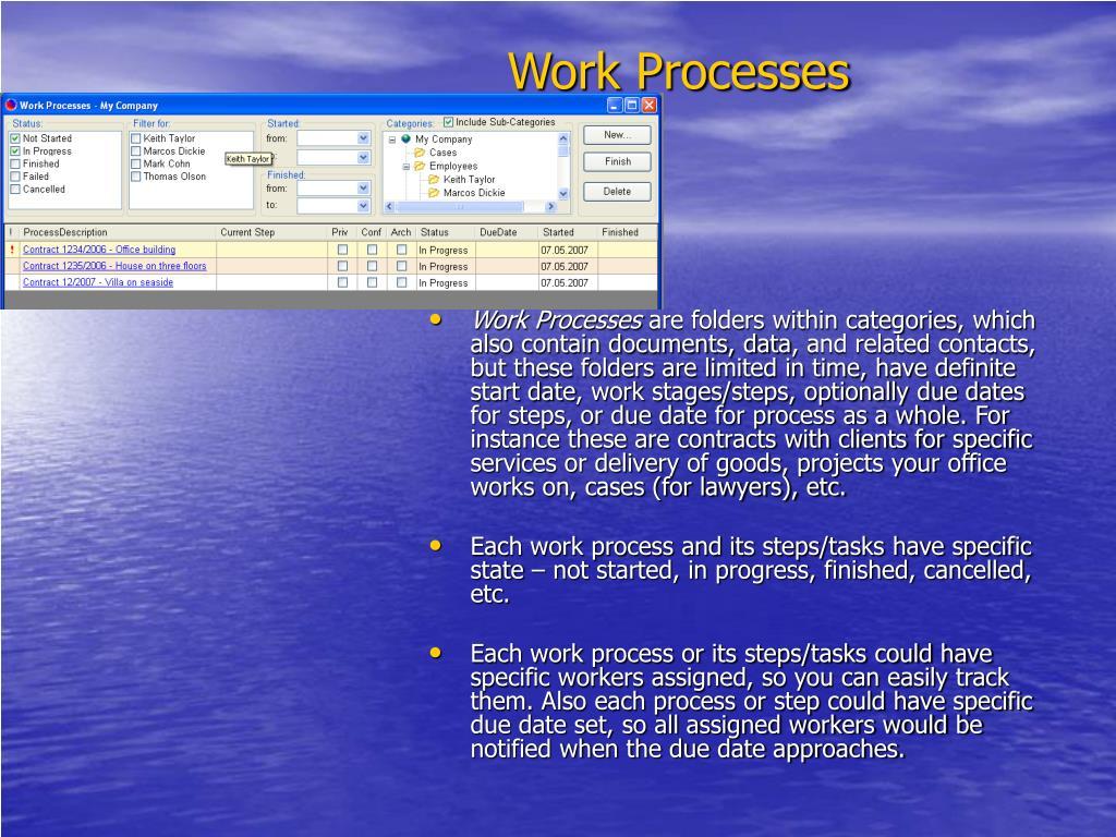 Work Processes