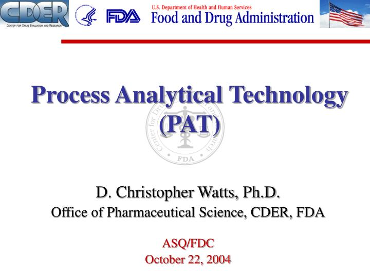 Dissertation on process analytical technology
