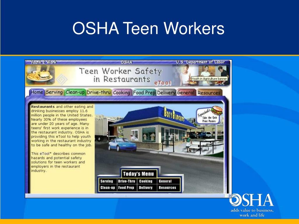 OSHA Teen Workers