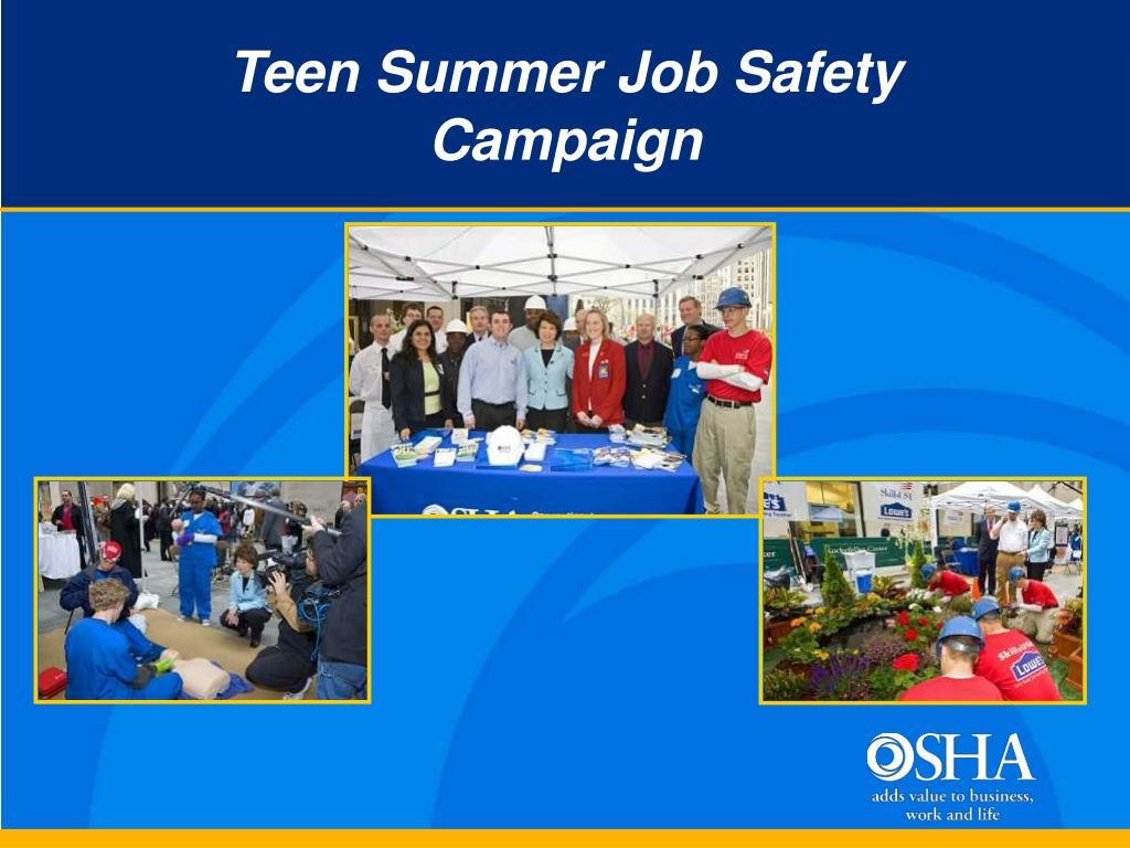 Teen Summer Job Safety