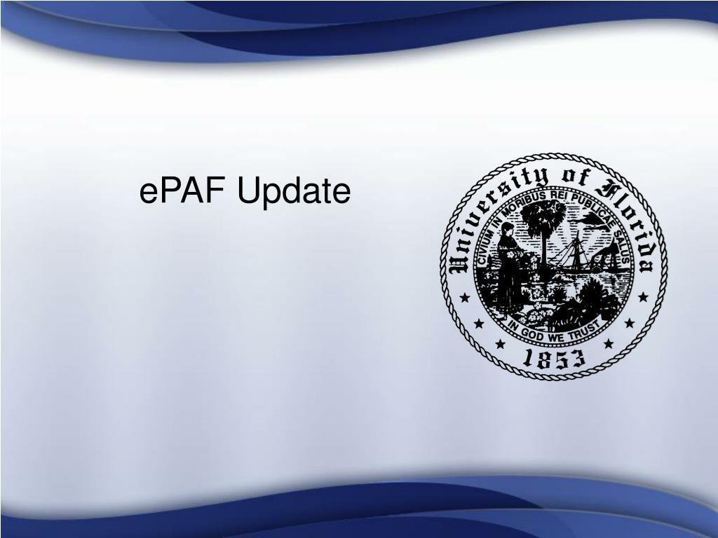 ePAF Update