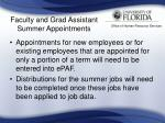 faculty and grad assistant summer appointments24