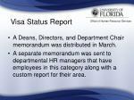 visa status report34